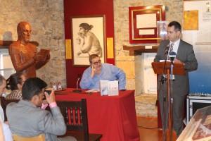 Koldo San Sebastián en el Museo Simón Bolívar.